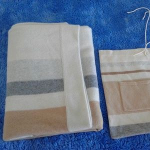 White/Beige/Brown Cashmere 3- Piece Travel Set